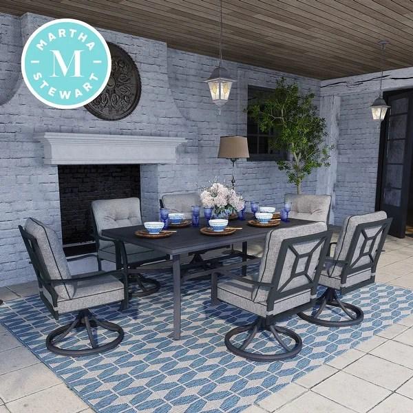 Shop Martha Stewart Thornfield 7-piece Patio Dining Set ... on Martha Stewart 6 Piece Patio Set id=39970