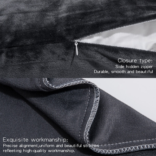 body pillow case with zipper closure