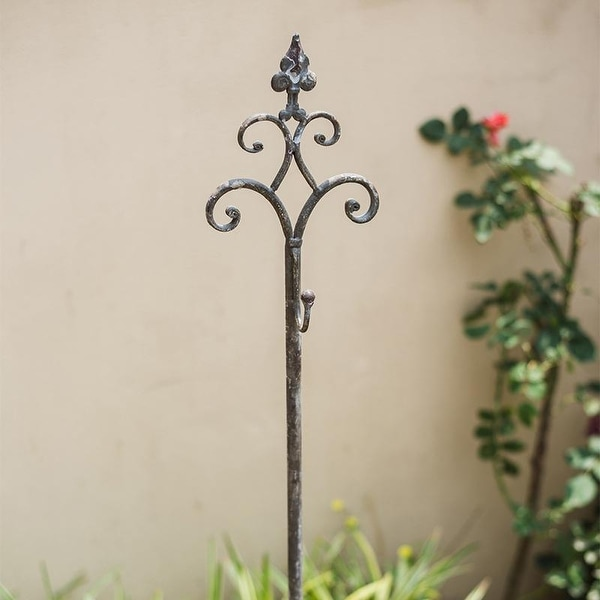 RusticReach Metal Hanging Plant Stand with Hook Adjustable ... on Plant Stand Hanging  id=57902
