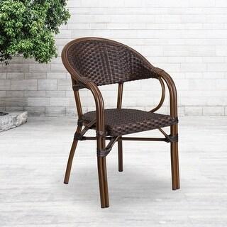 rattan restaurant patio chair