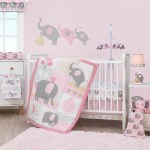 Bedtime Originals Eloise Pink Gray Gold White Elephant 3 Piece Nursery Baby Crib Bedding Set Overstock 24107213