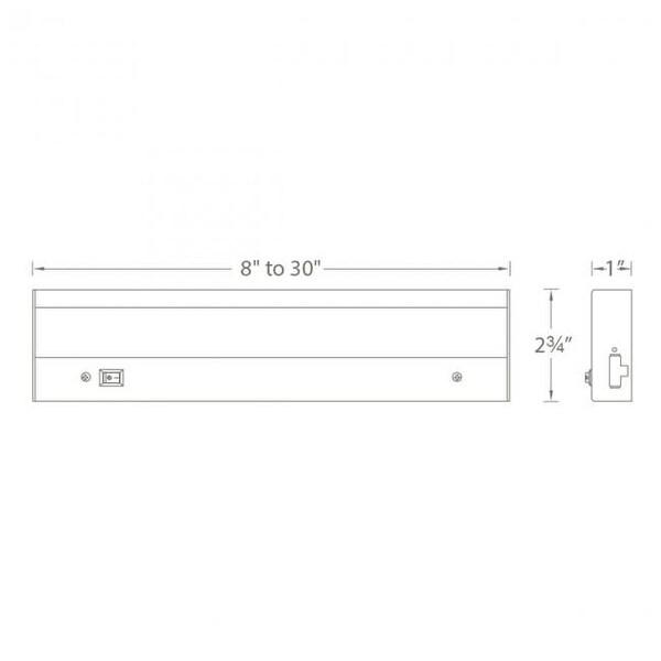 wac lighting ba acled12 9 ledme pro 12 led under cabinet light bar linkable