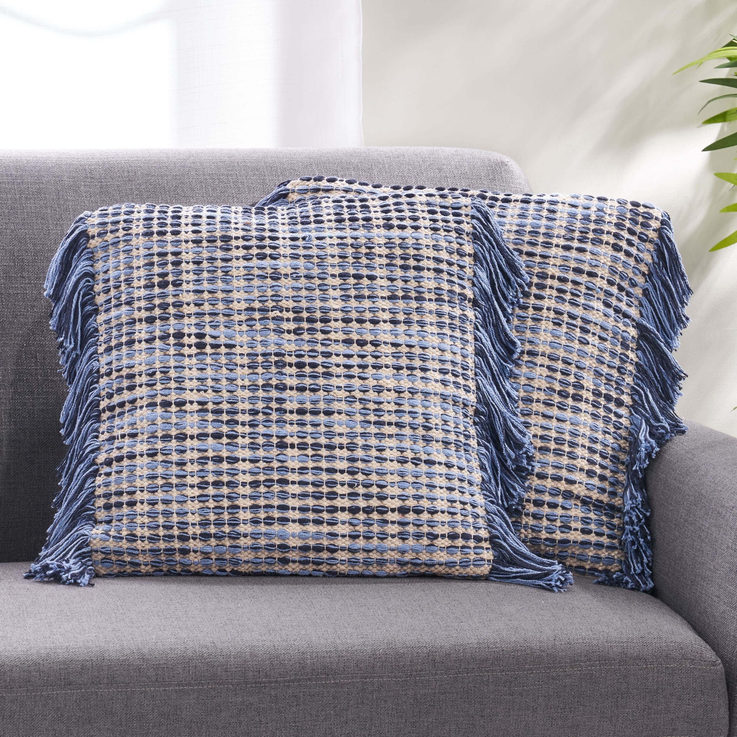 Shop Black Friday Deals On Dunibar Hand Loomed Boho Pillow Cover By Christopher Knight Home Overstock 31111649 Blue Natural Single