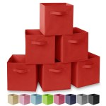 Set Of 6 Collapsible Fabric Cubes 11 Storage Bins Multiple Colors Overstock 30827876