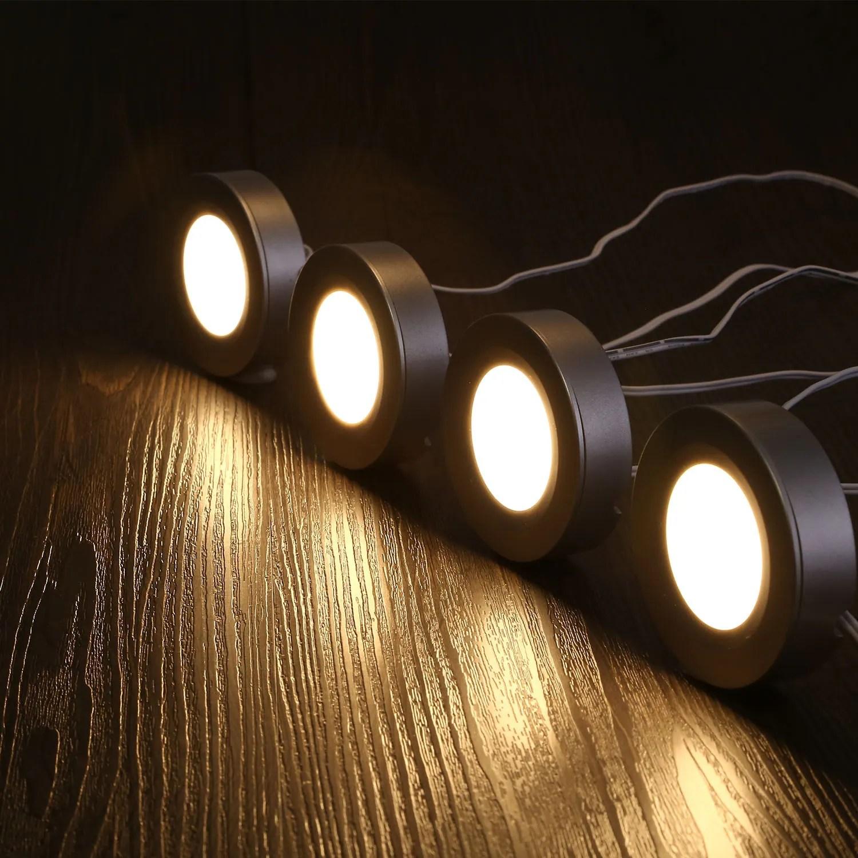 led puck lights 3000k warm white 4 pcs n a