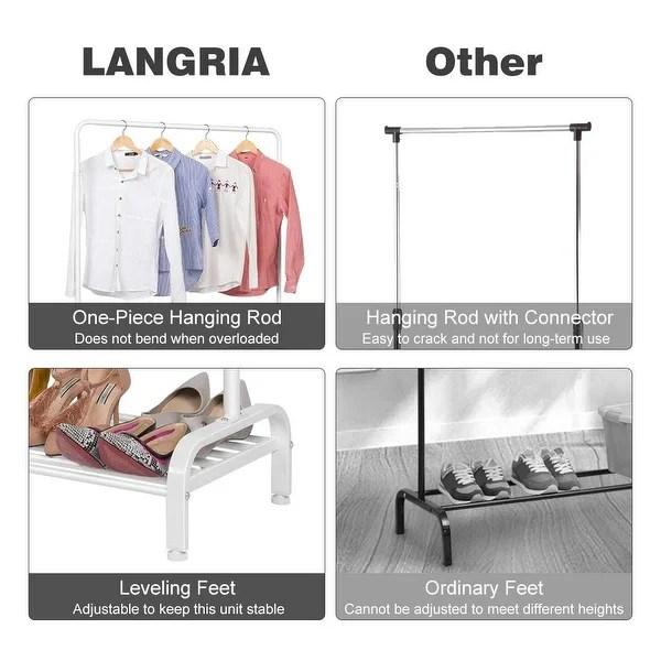 langria clothing garment rack heavy