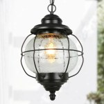 Shop Costal Black 1 Light Antique Outdoor Pendant With Seeded Glass Cylinder L8 3 Xw8 3 Xh13 4 On Sale Overstock 31640878