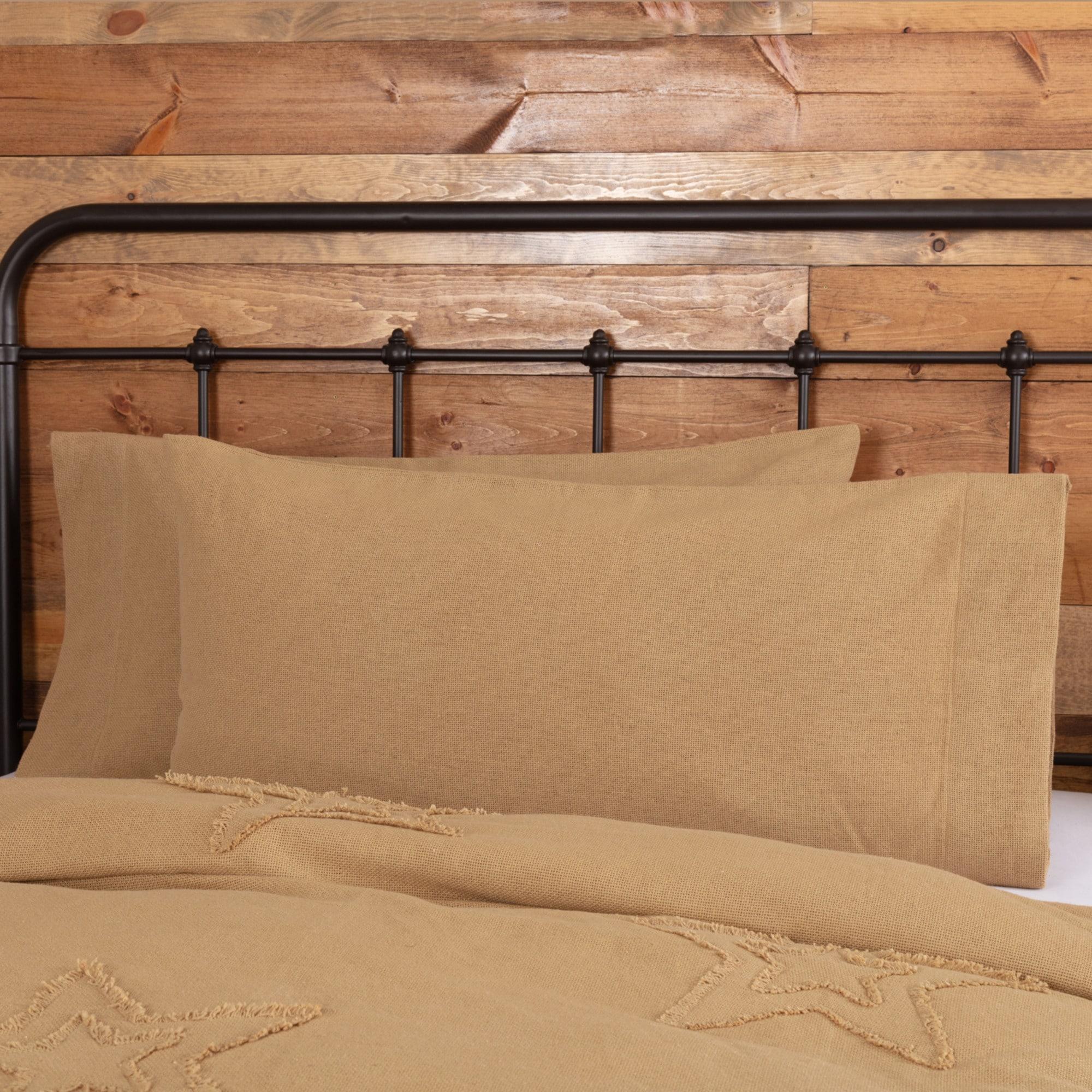 2x pillowcase pillow case white ruffle
