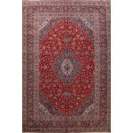 Shop Floral Kashan Persian Wool Area Rug Hand Knotted Living Room Carpet 9 8 X 12 8 On Sale Overstock 31643363
