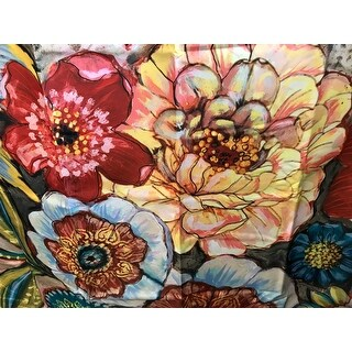 laural home bohemian bouquet shower curtain