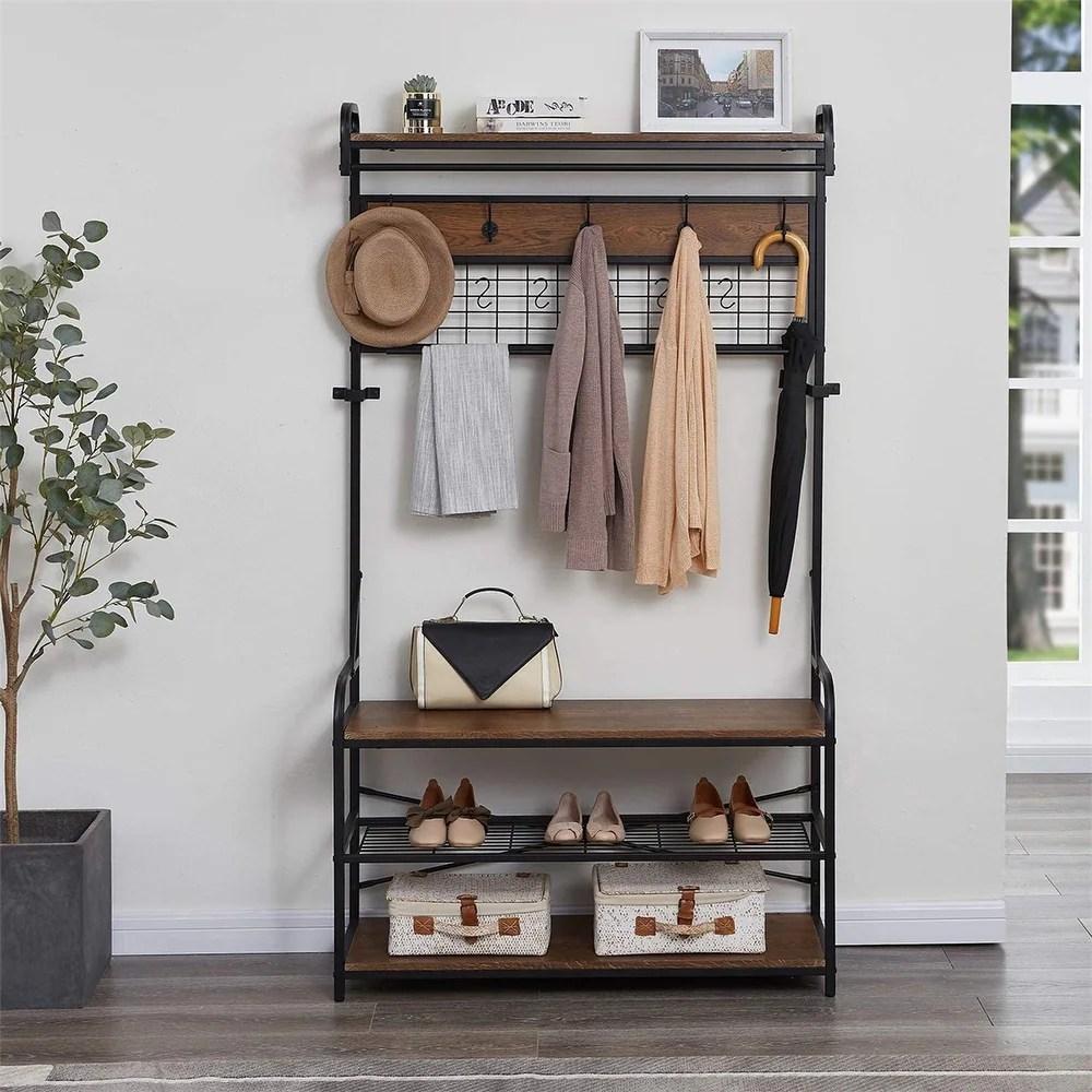 buy coat rack bench online at overstock