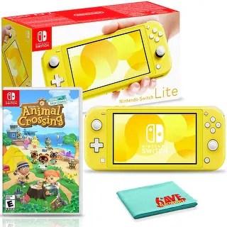Shop Nintendo Switch Lite (Yellow) Bundle with Animal ... on Animal Crossing Kitchen Counter  id=34017