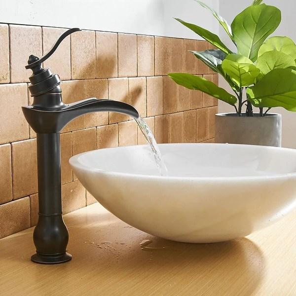 waterfall bathroom sink faucet single