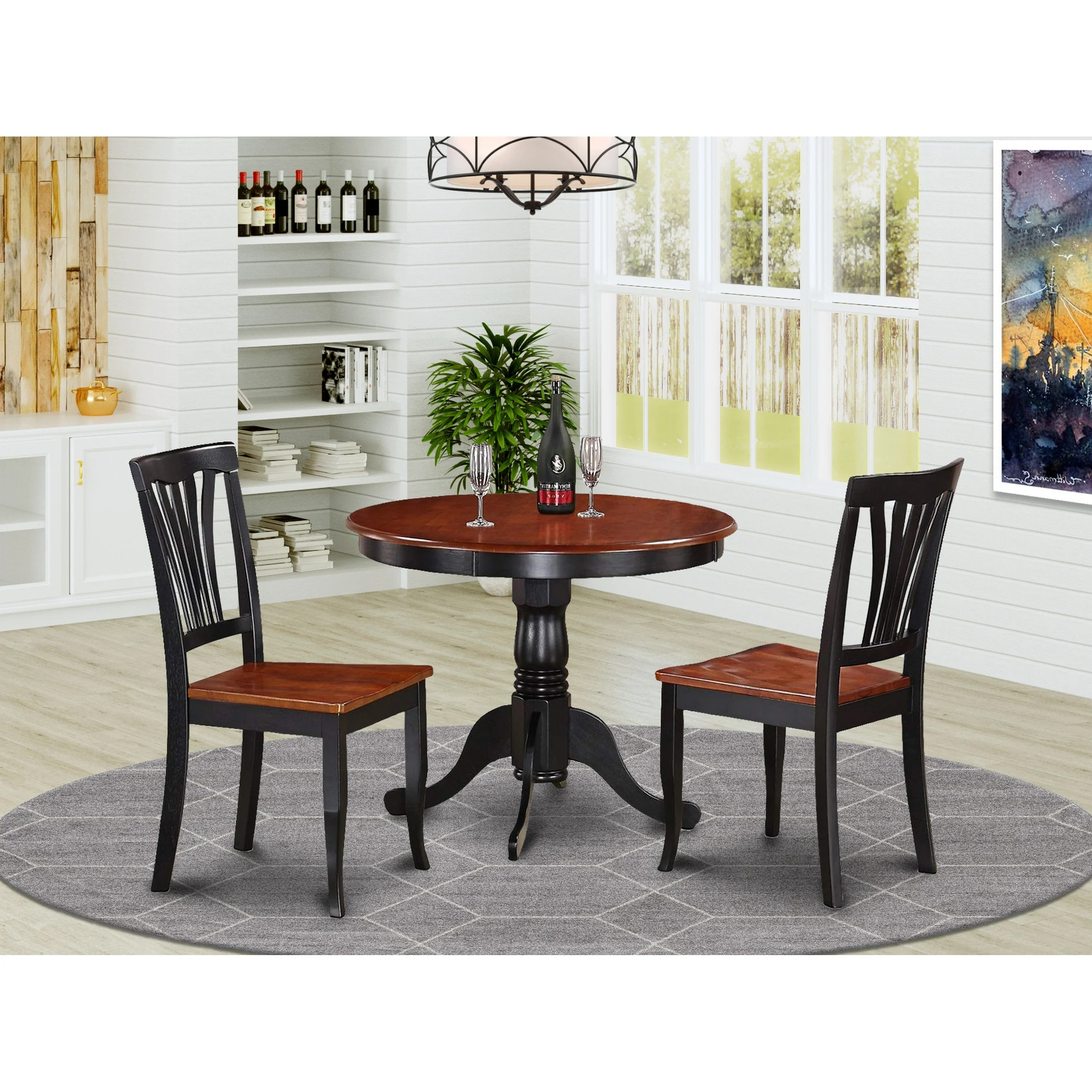 Shop 3 Piece Kitchen Nook Dining Set Small Kitchen Table And 2 Kitchen Chairs Overstock 10200001