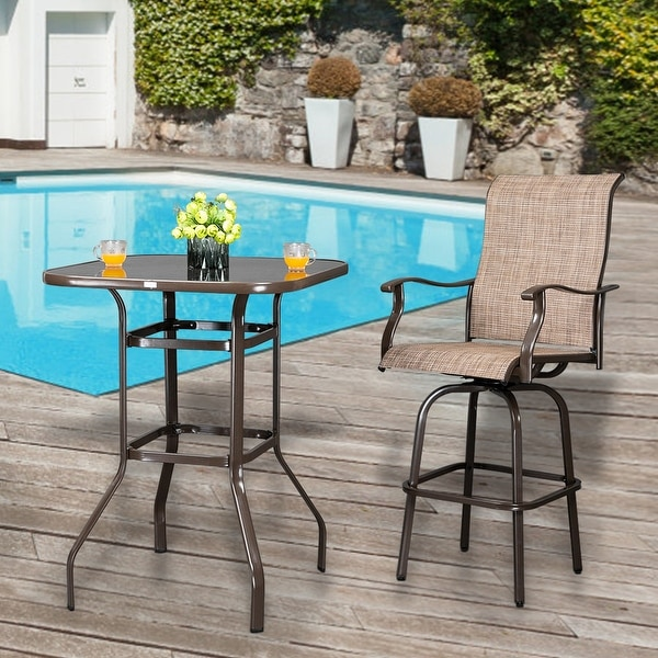 https www overstock com home garden 39 wrought iron glass high bar table patio bar table 31000688 product html