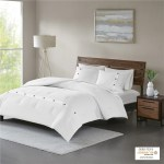 Madison Park Rianon White Cotton Waffle Weave Comforter Set On Sale Overstock 21210369
