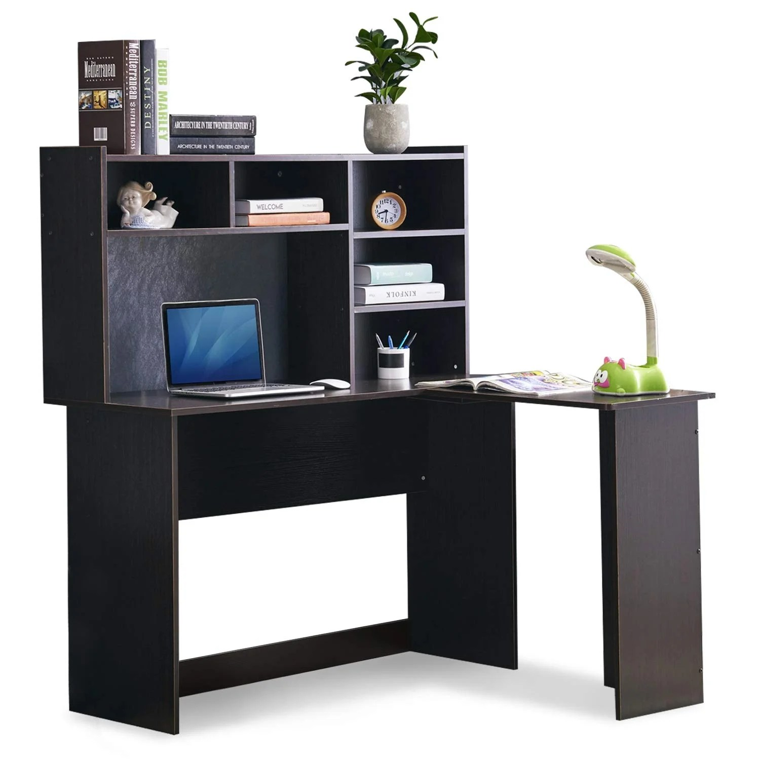 Mcombo Modern Computer Desk With Hutch L Shaped Gaming Desk Corner Desk With Shelves For Small Space Home Office Overstock 30386723