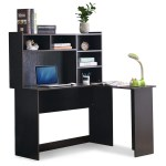 Shop Black Friday Deals On Mcombo Modern Computer Desk With Hutch L Shaped Gaming Desk Corner Desk With Shelves For Small Space Home Office Overstock 30386723