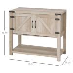 Homcom 2 Door Free Standing Storage Cabinet With Bottom Shelf Kitchen Cupboard Entryway Storage Cabinet On Sale Overstock 31979630