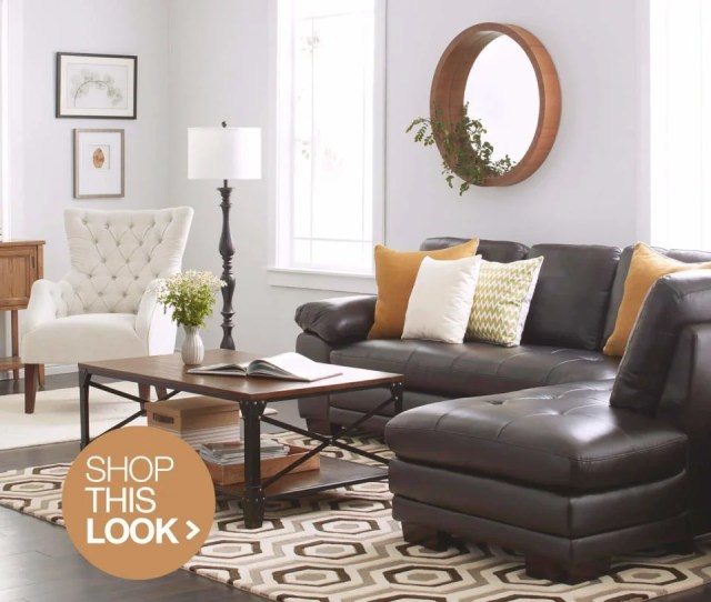 Contemporary Living Room Ideas With Brown Leather Sofa
