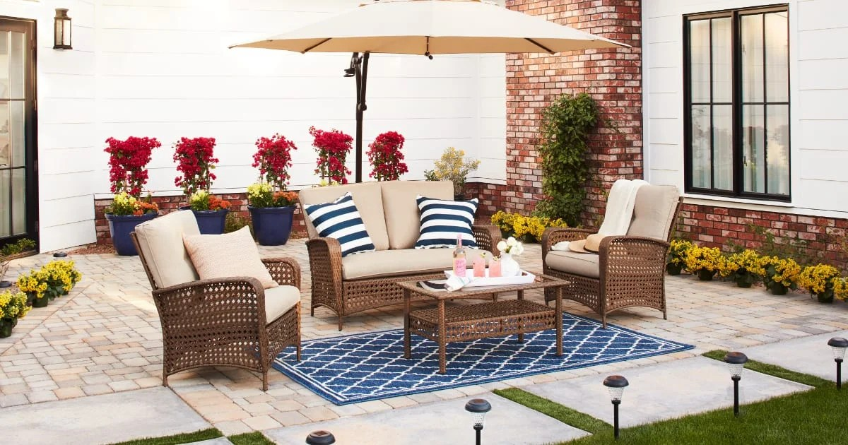 15 Ways to Furnish Your Patio on a Budget | Overstock.com on Backyard Patios On A Budget id=24245