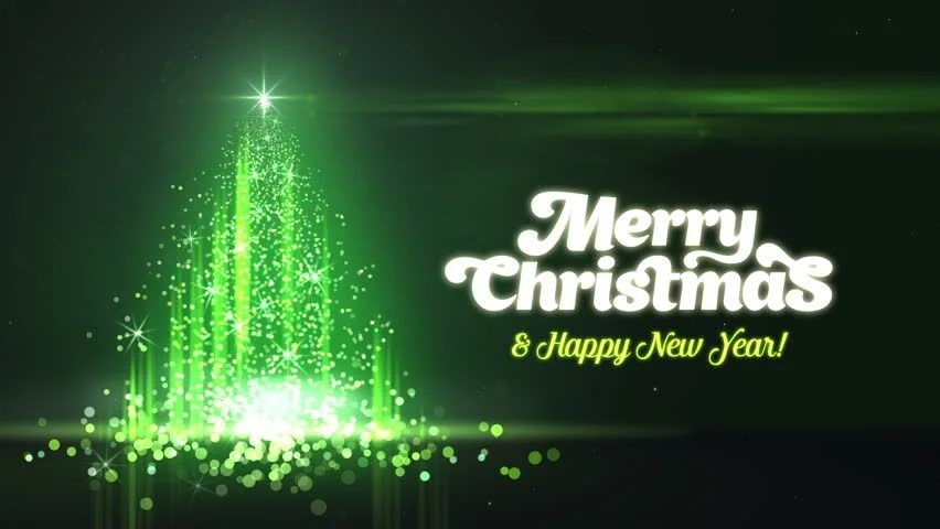 green christmas new year templates