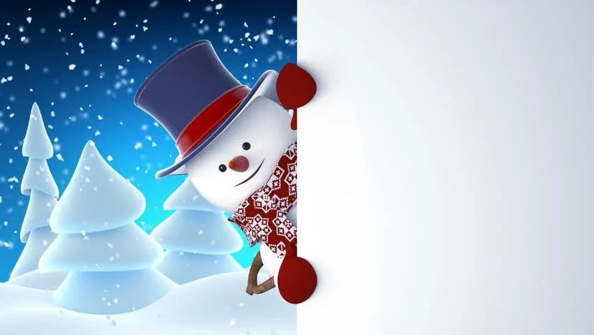 Snowman With Face And Hat Image Free Stock Photo