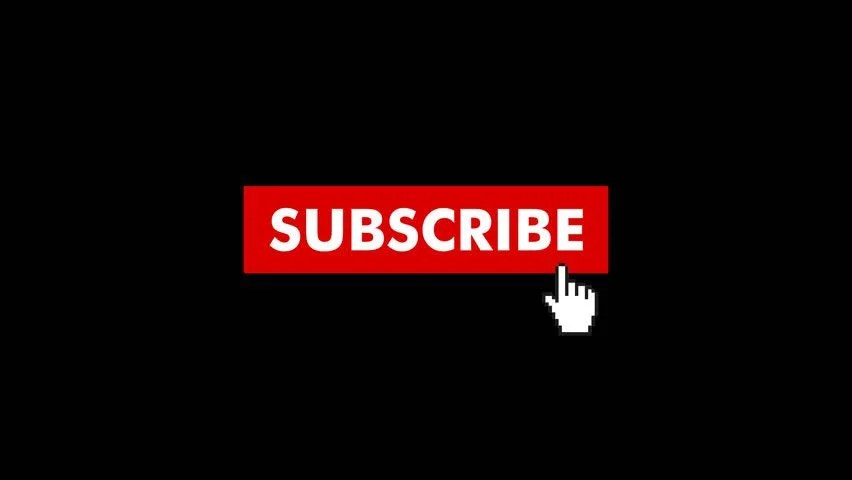 Animation Of A Subscribe Button Stock Footage Video 100