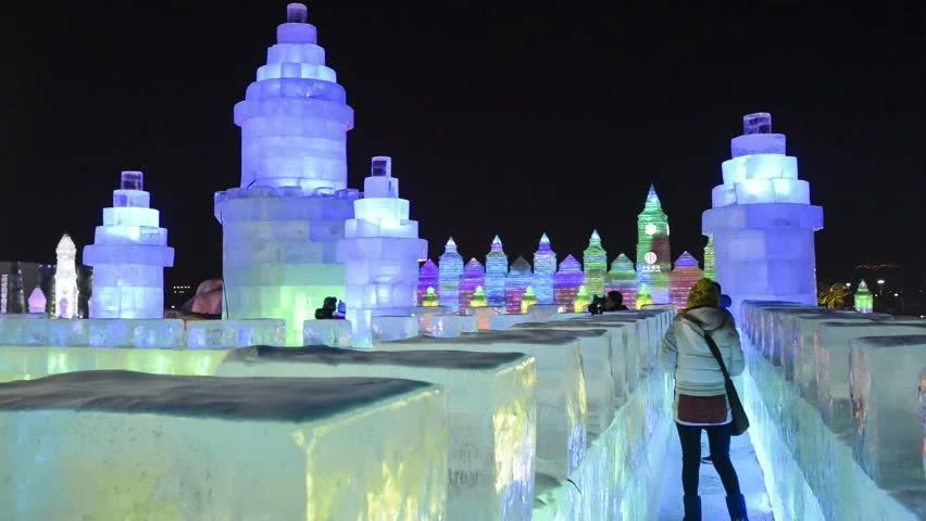 Harbin China January 6 Stock Footage Video 100