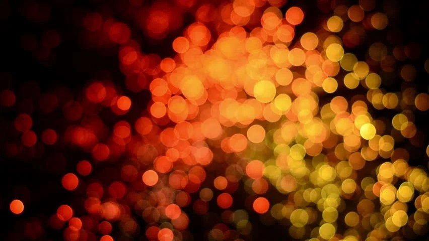 Blue Blurred Bokeh Lights Background Abstract Sparkles
