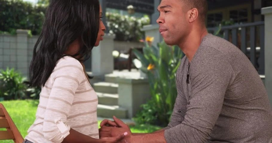Image result for black couple having serious conversation