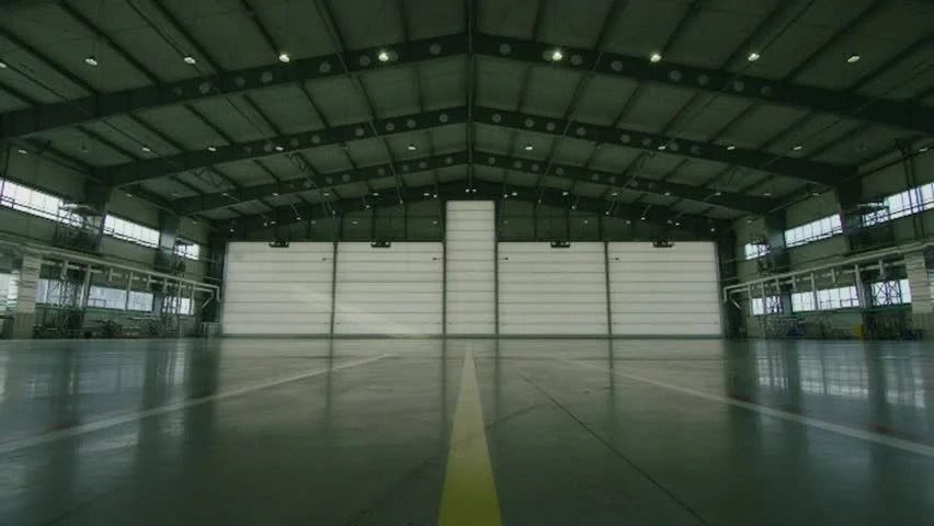 Hangar For Aircraft With Large Stock Footage Video 100