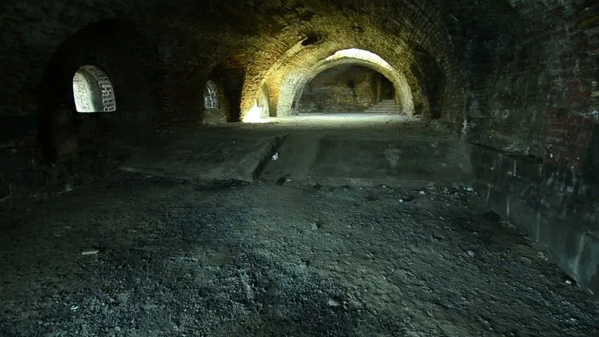 Stock Video Clip Of Abandon Interior Old Stone Castle