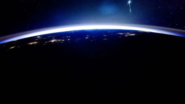Earth View From Space With Night City Lights. Oceania And ...