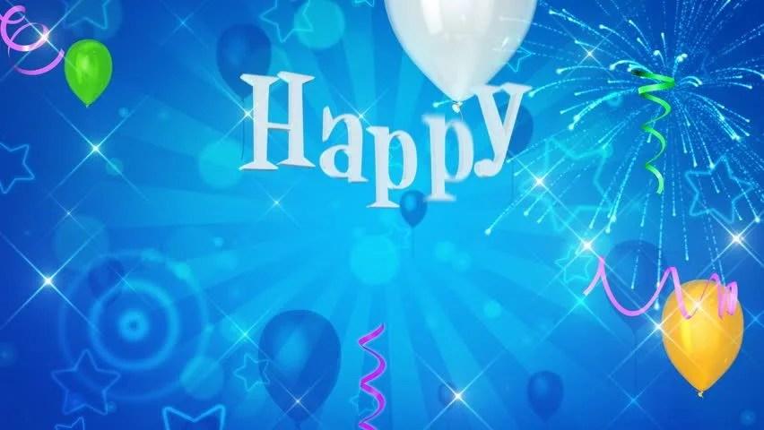 Video De Stock De Happy Birthday Text Appears On Beautiful