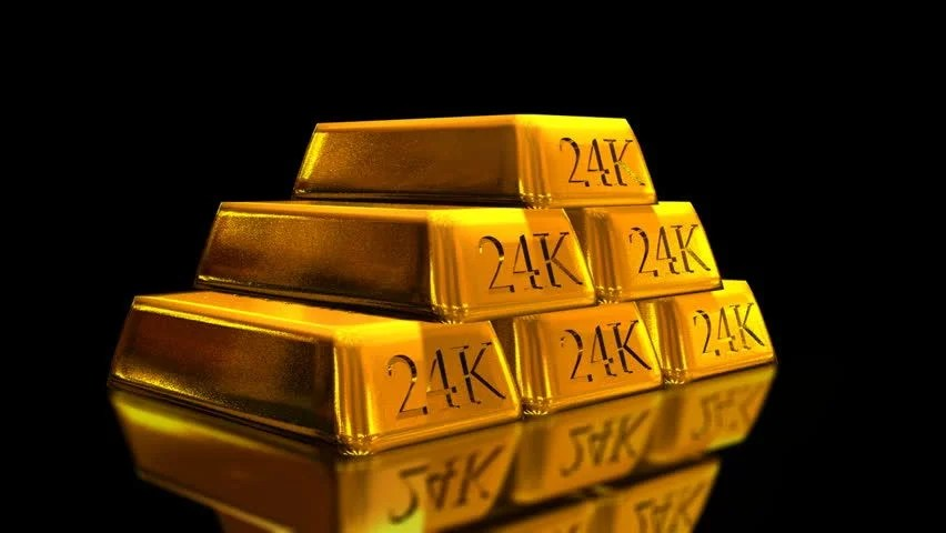 Stock Video Of Gold Bricks Bullion Loop Hd 1991173