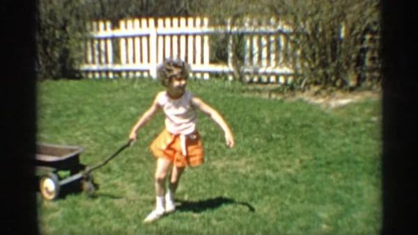 Children On Seesaw (vintage 8 Mm Amateur Film) Stock ...