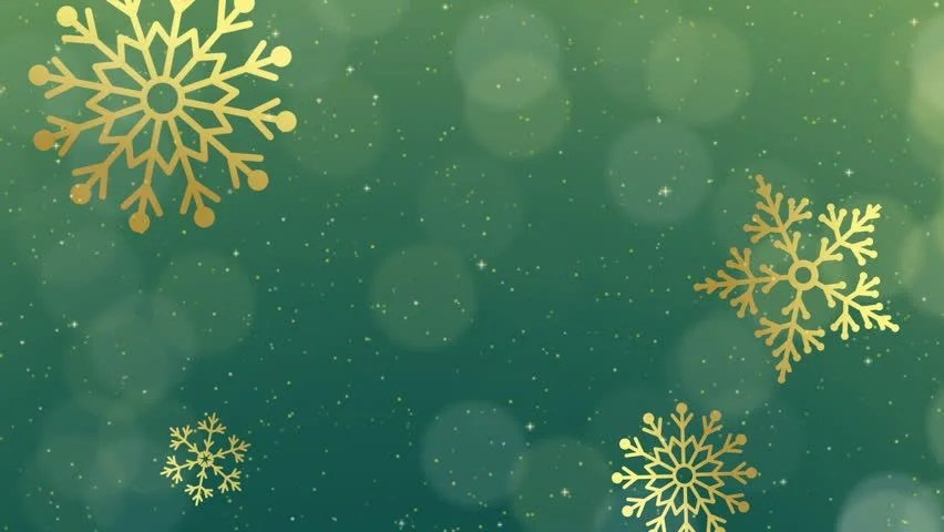 4k Christmas Motion Background Snowfall With White Snow