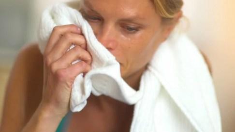 Fast sweaty woman