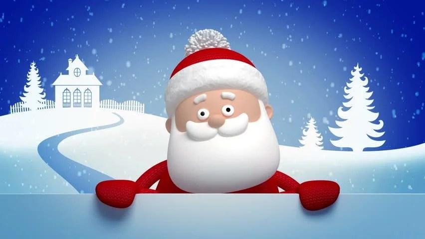 Christmas Snowman Salutation Animated Greeting Card 3d