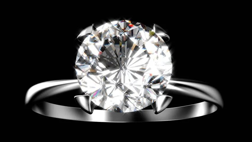 Expensive Silver Diamond Ring Turning On Themselves