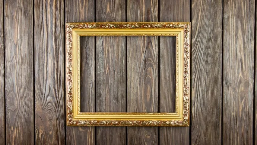 Stock Video Clip Of Frame On Old Wood Background