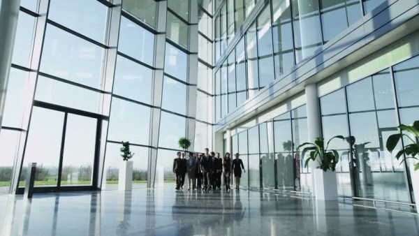 Business People Inside A Modern Office Building. Stock ...