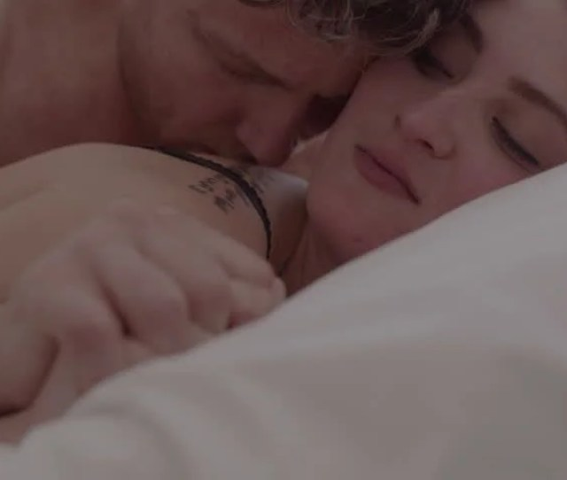 Beautiful Passionate Couple Having Sex On Bed Intimate Young Couple During Sensual Foreplay In Bed