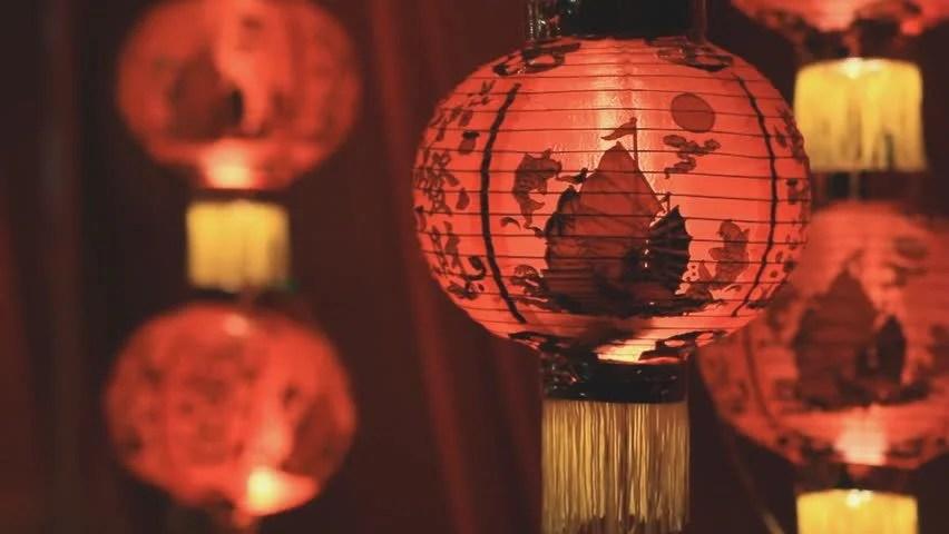 Year Drawing Chinese New Lantern