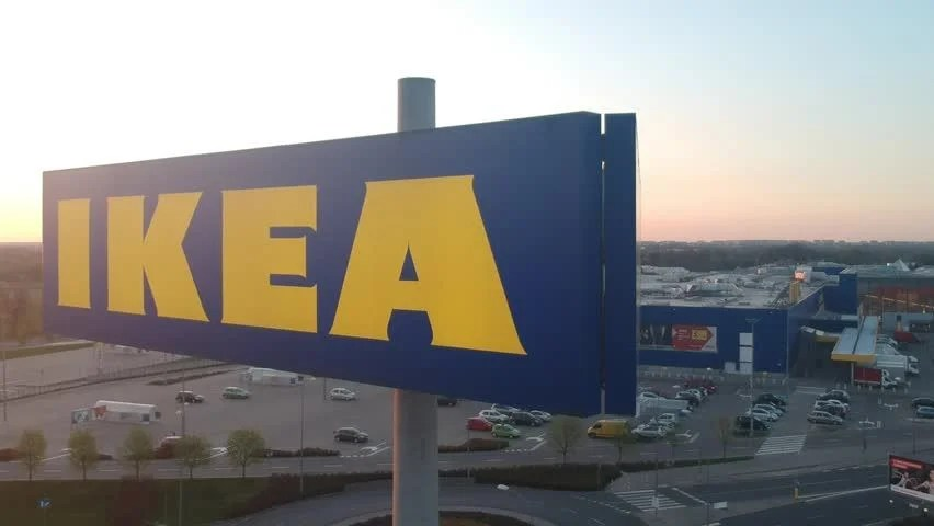 Lodz Poland April 21 2018 Ikea Store Big Sign In Port Lodz Ikea Is Swedish Founded Dutch Based Co That Designs Sells Ready To Assemble Furniture Appliances Home Accessories
