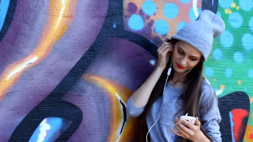 Image result for girl listening to music fashion