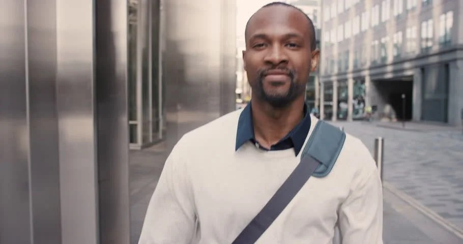 African American Man Using Business Stock Footage Video 100