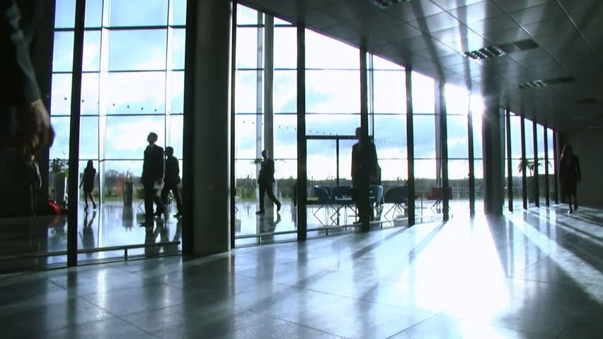 Business People Inside A Modern Office Building Stock