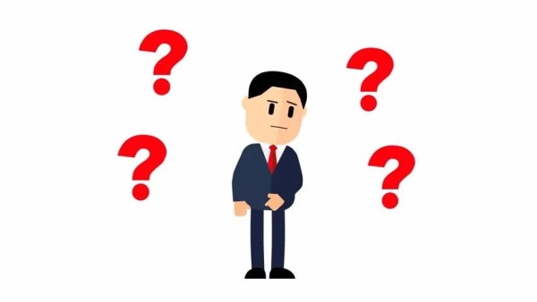 Cartoon Businessman Question Marks Over Stock Footage